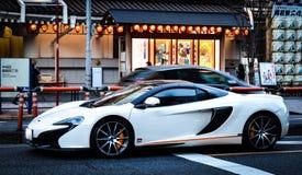 Sport car in tokyo japan. Street stock image