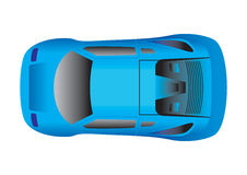 Sport Car Top View Royalty Free Stock Photo
