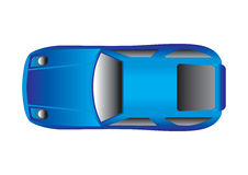 Sport Car Top View Royalty Free Stock Image