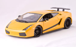 Sport car toy. On a white background Stock Photos