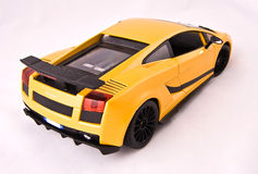 Sport car toy. On a white background (back side Stock Photo
