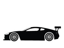 Sport car vector. Silhouette a sport car, vector illustration Royalty Free Stock Image