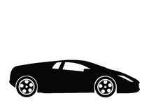 Sport car vector 7. Silhouette a sport car, vector illustration Royalty Free Stock Image