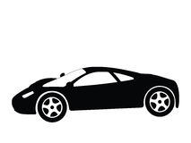 Sport car vector 8. Silhouette a sport car, vector illustration Stock Image