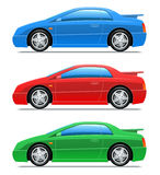 Sport Car. Vector Icons Stock Images