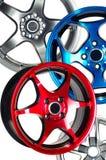 Sport car wheel. Detail of beauty design of Sport Car Wheel Royalty Free Stock Image