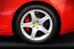 Sport car wheel Stock Image