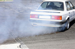 Sport car wheel drifting Stock Image