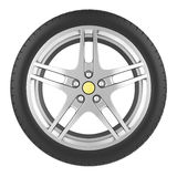 Sport car wheel isolated on a white background Royalty Free Stock Photos