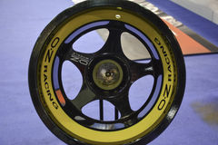 Sport car wheel. 11th Car and Motorcycle Tuning Show in Hungexpo, Budapest, Hungary. Photo taken to: March 19th, 2016 Stock Image