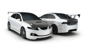 Sport car white and black Stock Images