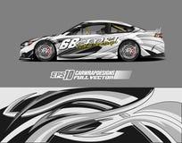 Free Sport Car Wrap Design Illustration Stock Photo - 199904500