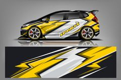 Sport Car wrap design vector, truck and cargo van decal. Graphic abstract stripe racing background designs for vehicle, rally, rac