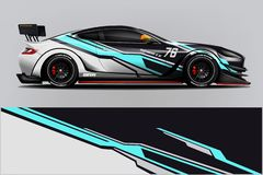 Sport Car wrap design vector, truck and cargo van decal. Graphic abstract stripe racing background designs for vehicle, rally, rac royalty free illustration