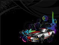 Sport cars. Composition over a black background Stock Photography