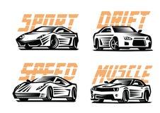 Sport cars emblem Stock Image