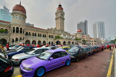 Sport cars exhibition in Merdeka Square. Kuala Lumpur. Malaysia Stock Images