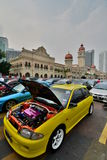 Sport cars exhibition in Merdeka Square. Kuala Lumpur. Malaysia Royalty Free Stock Images