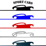 Sport cars hand drawn logo Royalty Free Stock Image