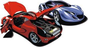 Sport cars (my original design) Stock Images