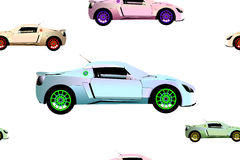 Sport cars pattern Stock Image