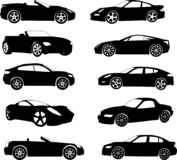 Sport cars silhouettes collection