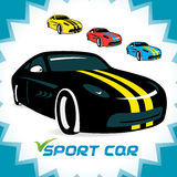 Sport Cars Symbol Royalty Free Stock Photography