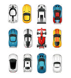 Sport Cars Top View Set Stock Photography