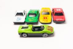 Sport Cars Toys. On white royalty free illustration