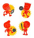 Sport cartoon character Stock Photos