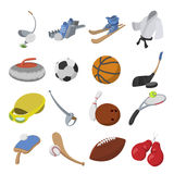Sport cartoon icons Royalty Free Stock Images