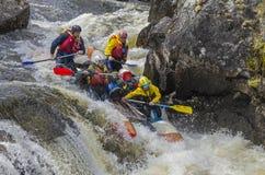 Sport catamaran in rapids. Stock Images