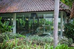 Sport center at tropical villas in Bali Stock Image