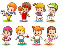 Sport character Stock Image