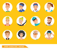 Sport characters Avatars vector eps 10 Royalty Free Stock Images