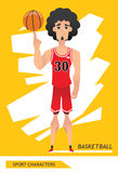 Sport characters basketball player vector Royalty Free Stock Photography
