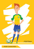 Sport characters  football player vector Royalty Free Stock Image