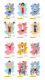Sport Characters Set vector design Royalty Free Stock Photography