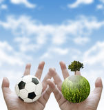 Sport charity for sustainable concept Stock Images