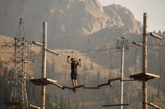 Sport che si preparano nelle montagne Fotografie Stock