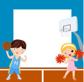 Sport children and frame Royalty Free Stock Photo