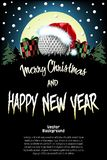 Sport Christmas and new year pattern