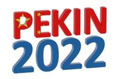 Sport city - Pekin 2022 Royalty Free Stock Photography