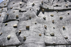 Sport climbing wall 1. Outdoor shot of a sport climbing wall stock photo