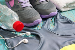 Sport clothing and shoes for workout Stock Photo