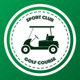 Sport club golf course logo Stock Image