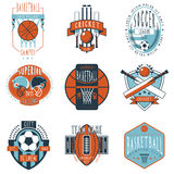 Sport clubs labels icons set Royalty Free Stock Photography