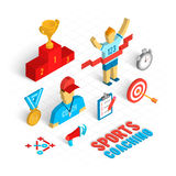 Sport Coaching Isometric Set Stock Images