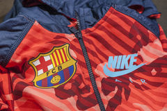 Sport coat with FC Barcelona Emblem Stock Image