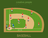 Sport collection: baseball stadium match play vector illustration
